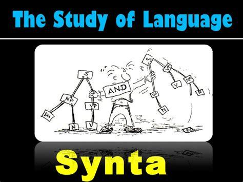 the study of language the study of language syntax theoretical linguistics