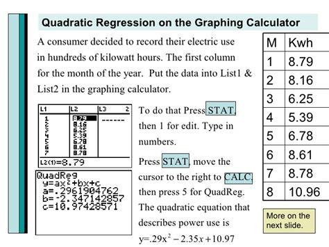 calculator quadratic regression 3 1 quadratic functions