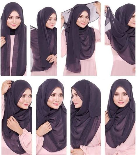 tutorial hijab vemale 58 best images about ways to wear hijab on pinterest