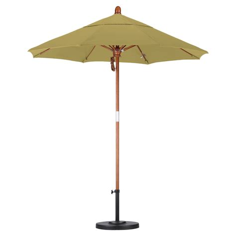 Industrial Patio Umbrellas California Umbrella 7 5 Ft Wood And Fiberglass Sunbrella Market Umbrella Commercial Patio