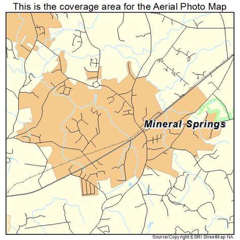 springs carolina map aerial photography map of mineral springs nc carolina