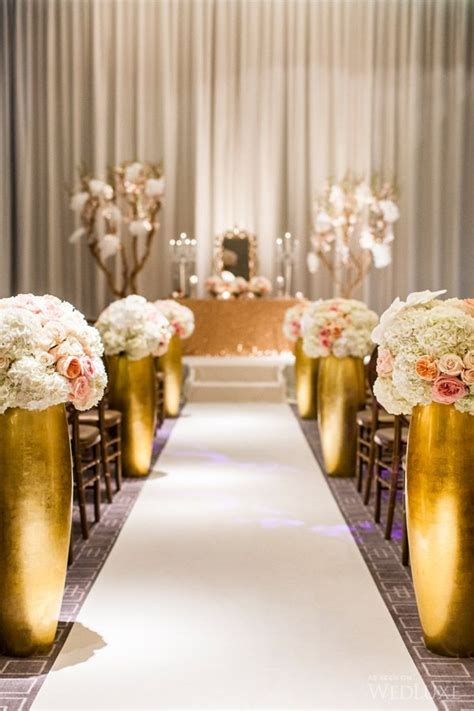 trend alert pink copper design color trends pinterest 606 best ceremony aisle style images on pinterest