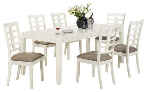 beach dining room sets monarch specialties 7 piece 78x36 rectangular dining room