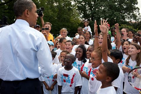 Children S Lawn Chairs File Obama With Let S Move Kids Jpg Wikimedia Commons