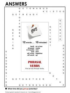 verb pattern bbc esl verb to get exercises 1000 ideas about ejercicios
