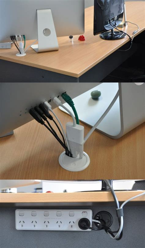 computer desk wire management simple cord management solutions that can make life easier
