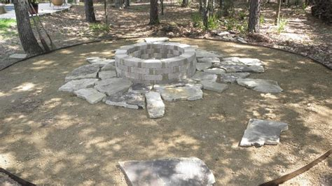 how to build a flagstone fire pit out of a kit fire pit