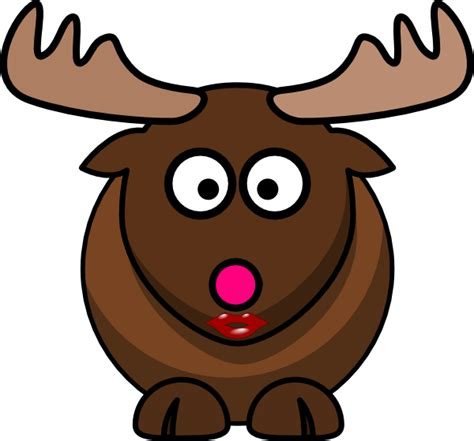 pink nose moose with pink nose clip at clker vector clip royalty free