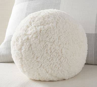 cozy sherpa ball filled pillow pottery barn