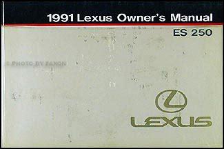 1991 lexus es 250 repair shop manual original