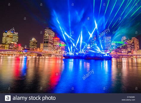 santos city of lights laser light show brisbane festival