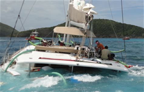 catamaran company bvi irma boat damage survey in british virgin islands caribbean