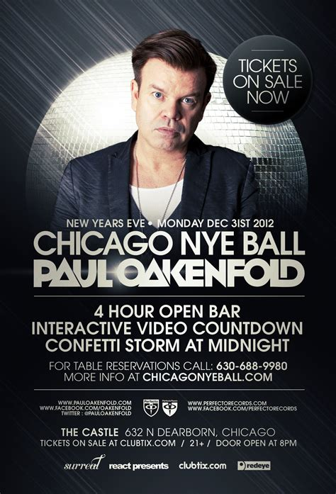 paul oakenfold nye nye paul oakenfold chicago ill tickets and lineup on