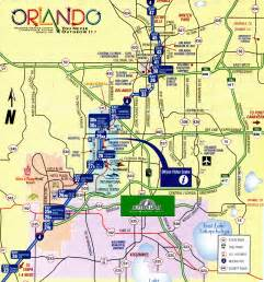 Map Of Orlando Fl by Villas 4 Orlando Florida Location