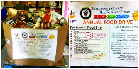 Montgomery County Food Pantry by Food Drive At This Weekend Montgomery Community Media