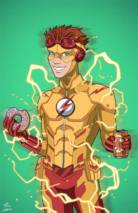 kid flash earth 27 commission by phil cho on deviantart