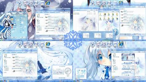 theme windows 7 kyoukai no kanata theme anime win 7 hatsune miku collection