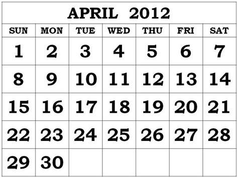 April 2012 Calendar April 2012 Calendar 18 The Mind Musings Of Ricoracer Flux