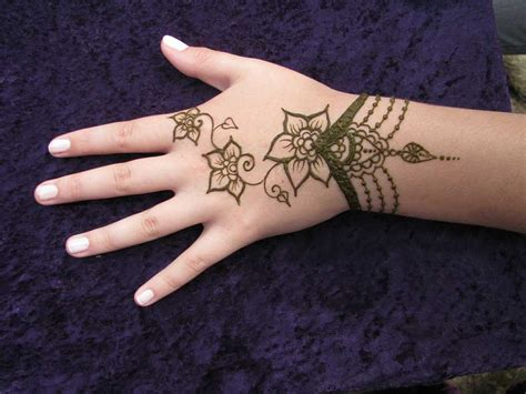 easy henna tattoo designs wrist indian sudani arabic arabian mehndi