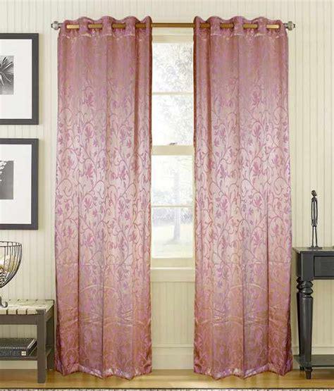 pink long curtains shandar ready made curtain opal pink long door 9 feet