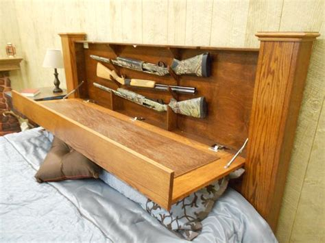 Headboard Gun Safe Guns In Bed Headboard Stashvault