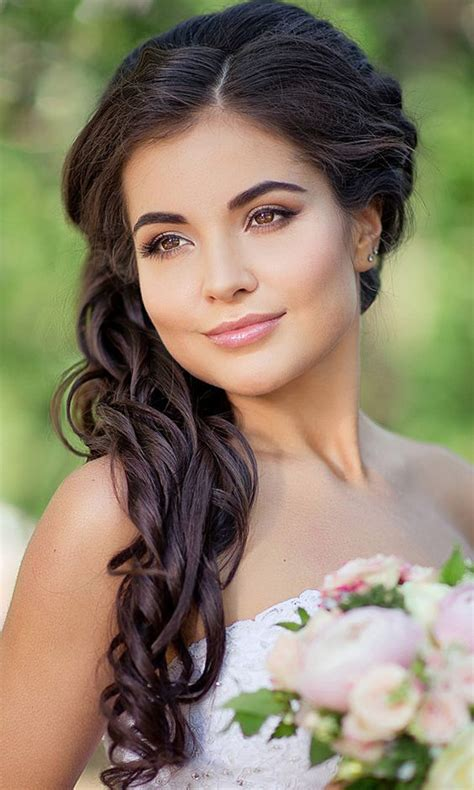 Wedding Hairstyles Pulled To The Side by Side Swept Wedding Hairstyles