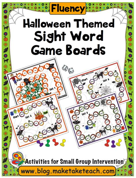 halloween themed words halloween themed game boards make take teach