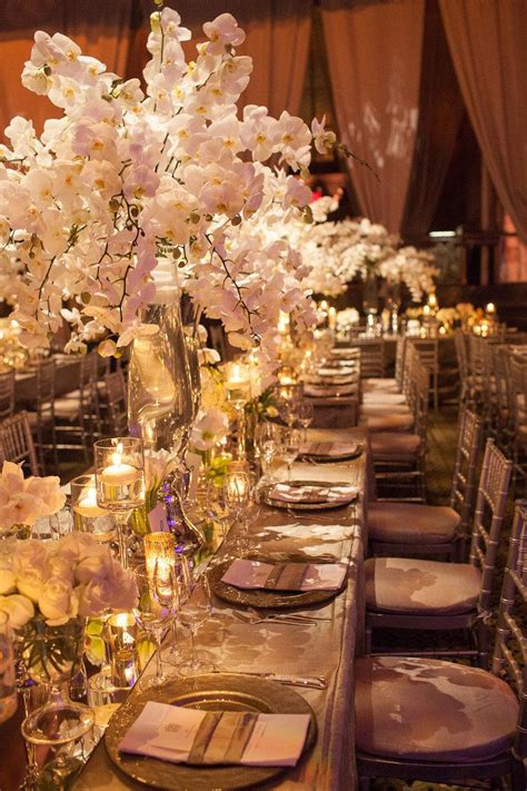 wedding orchid centerpieces 15 stunning orchid themed wedding centerpieces weddbook