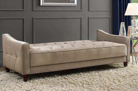 dhp furniture novogratz vintage tufted sofa sleeper ii