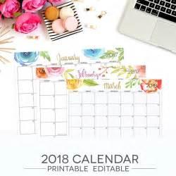 Budget Calendar 2018 January 2018 Calendar