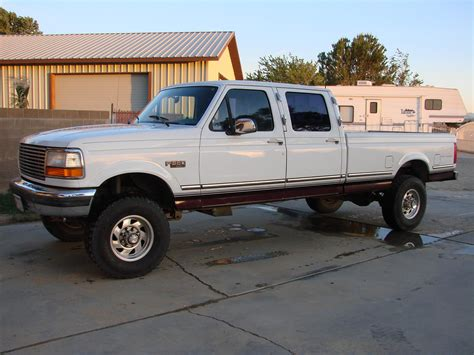1994 ford f350 b u b 1994 ford f350 crew cablong bed specs photos