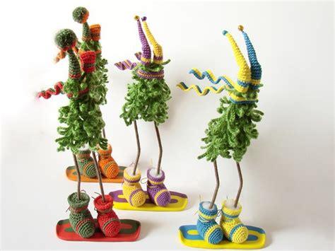 Handmade Trees Craft - craft ideas and crochet