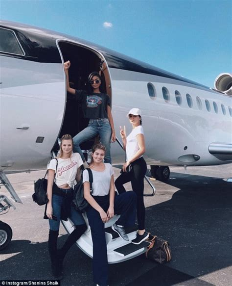 chanel iman fyre festival shanina shaik and chanel iman fly private jet for a