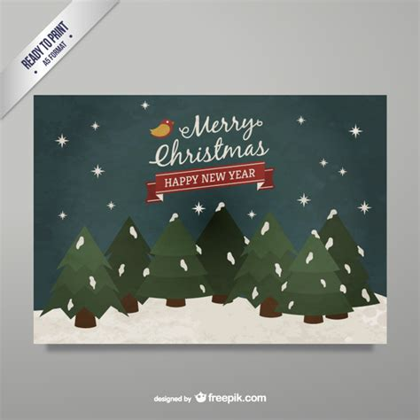 happy new year greeting card vector free download