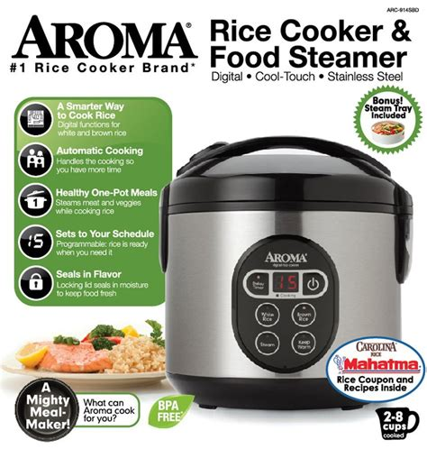 Rice Cooker Food Grade aroma digital rice cooker and food steamer 4 cup uncooked 8 cup cooked free ship 759578522031 ebay