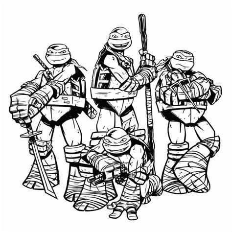 Tortugas Ninja Dibujo   Colorear.website