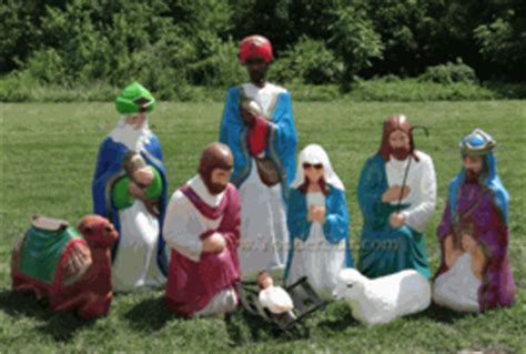 where to get life nativity set outdoor nativity sets
