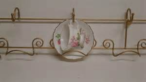tea cup saucer display rack wall mount holds 4 ebay