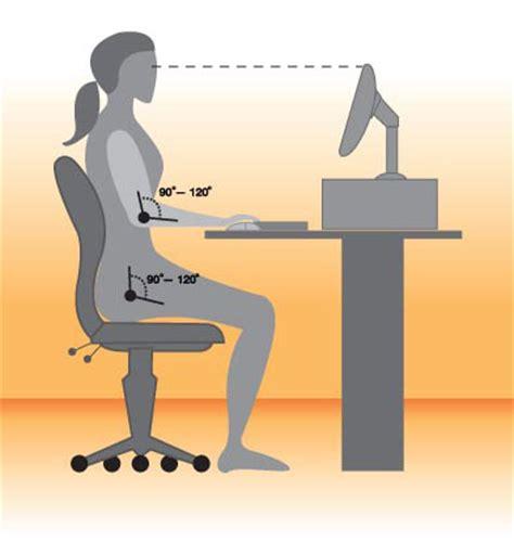 Ergonomic Sitting At Desk sitting 101 desk ergonomics popsugar fitness