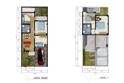 desain rumah ukuran 6x12 meter 15 contoh denah rumah minimalis modern nyaman dan