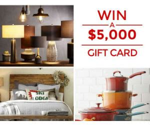 Hgtv Overstock Sweepstakes - win a 5 000 overstock com gift card in the hgtv magazine sweep free sweepstakes