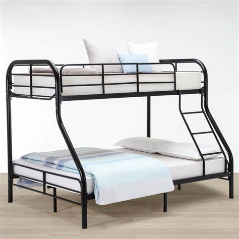 metal bunk bed metal twin over full bunk beds ladder kids teens adult