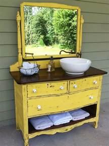 Dresser turned sink vanity bathrooms ideas pinterest vanities