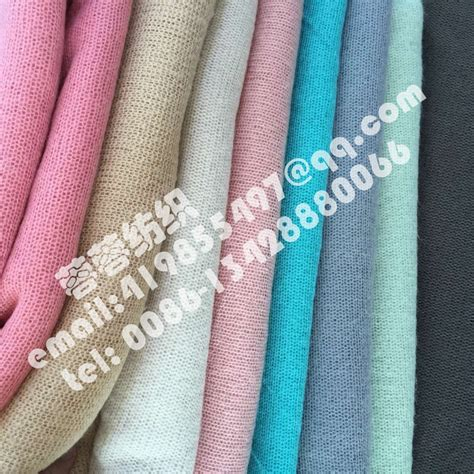 stretch knit material high quality woollen stretch knit fabric thin and soft