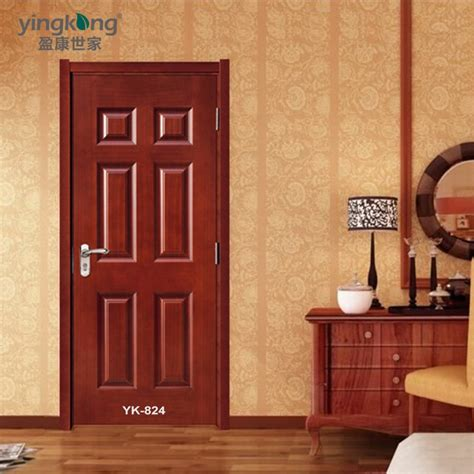 simple door yk824 interior home entry wood door front modern teak wood