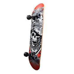 new cool black skull hat graphic complete skateboard 7 75 cruiser skateboards