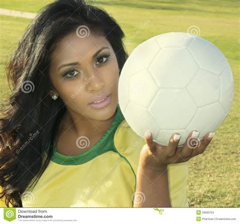 soccer couch female soccer football player stock image image of