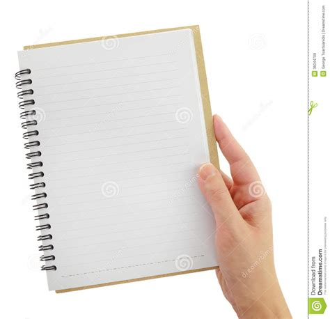 blank notebook stock image image of open notebook