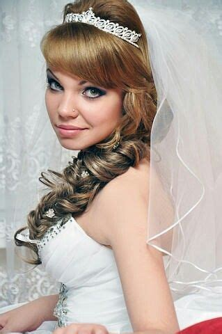 Curly Wedding Hairstyles With Bangs by Curly Wedding Hairstyle With Side Bangs
