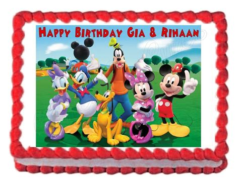 mickey mouse clubhouse party edible image cake topper decoration frosting sheet ebay